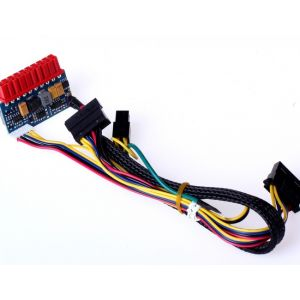 E-mini LR1109-120W12VDC DC/DC Inverter Board, 11.4VDC-12.6VDC/120W Incl. Cables