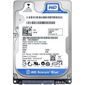 1 TB WESTERN DIGITAL BLUE WD10JPVX 5400rpm, 2.5 HDD
